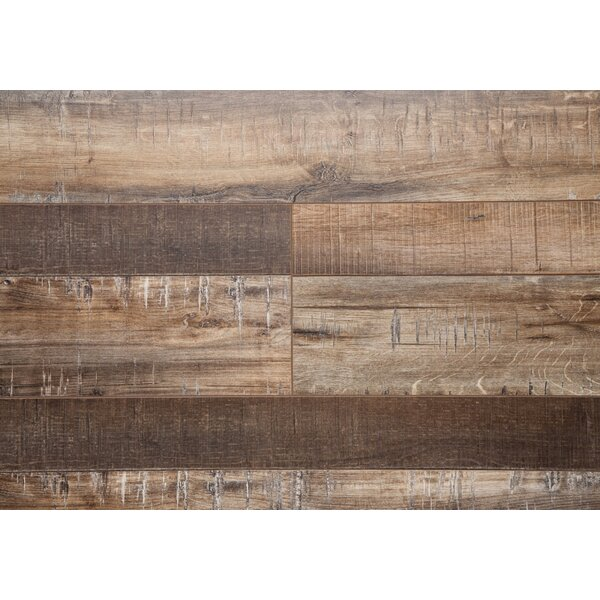 Country 7.5 x 72 x 12mm Oak Laminate Flooring in Maple by Chic Rugz