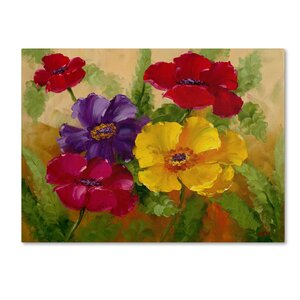 'Flowers' by Rio Painting Print on Wrapped Canvas by Trademark Fine Art