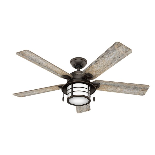 54 Key Biscayne Prestige 5 Blade Outdoor Ceiling Fan with Light by Hunter Fan