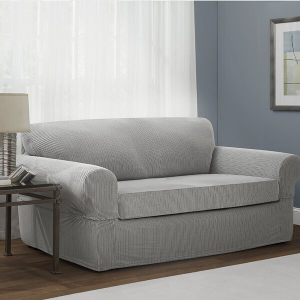 Connor Stretch Box Cushion Loveseat Slipcover by M