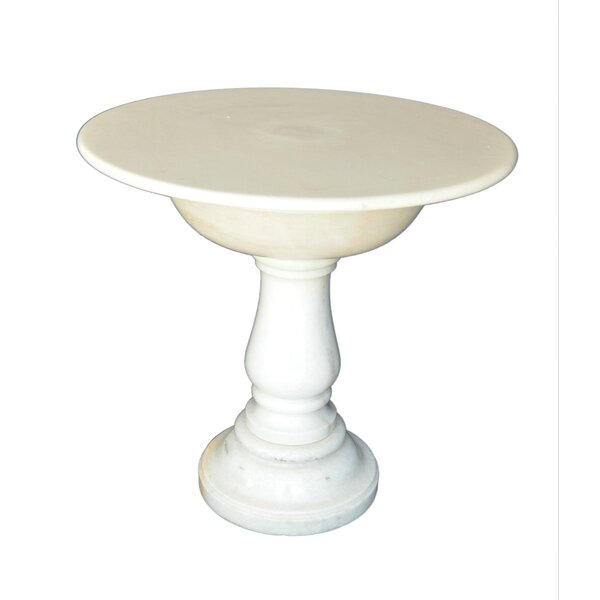Round Marble Side Table by The Silver Teak