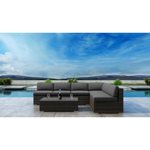 Gilleland 7 Piece Sectional Seating Group with Sunbrella Cushion by Orren Ellis