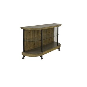 Wall Console Table with Glass Shelf by Sarreid Ltd