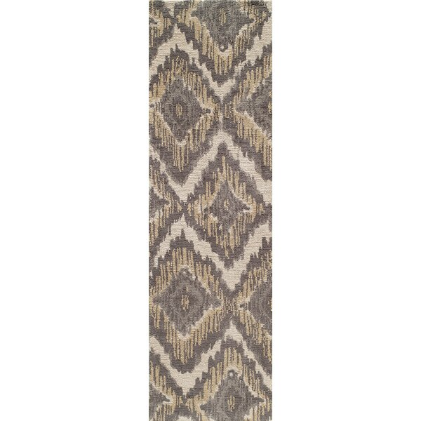 Ambrose Hand-Tufted Brown/Gray Area Rug by Bungalow Rose