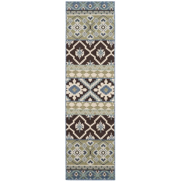 Rangely Chocolate/Blue Indoor/Outdoor Area Rug by Loon Peak