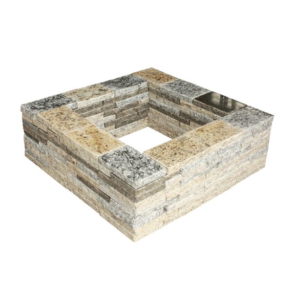 Granite Stone Wood Burning Fire Pit by Natural Concrete Products Co