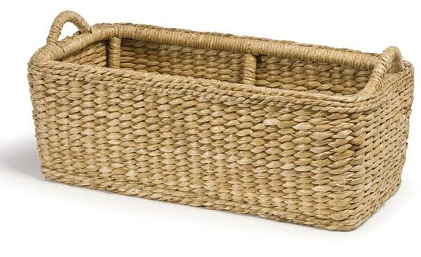 Rush Hearth Sea Grass Log Carrier by Mainly Baskets