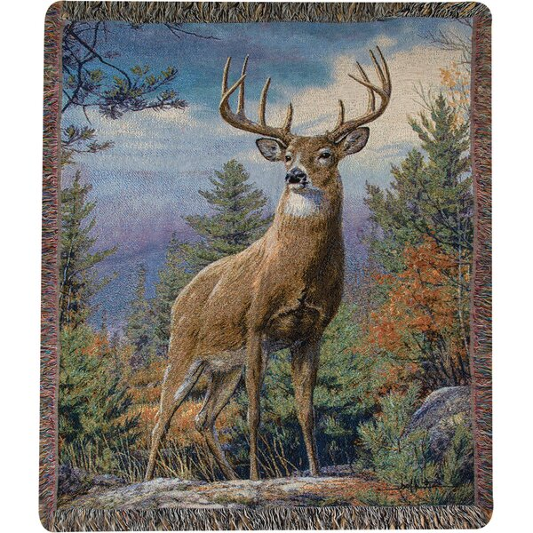 Standing Proud Tapestry Cotton Throw by Manual Woodworkers & Weavers