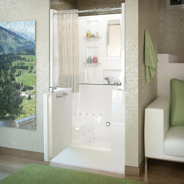 Mesa 40 x 31 Walk-In Air Jetted Bathtub by Therapeutic Tubs