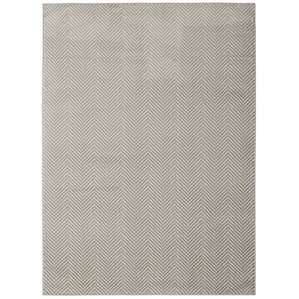 Furey Stripes Design Ivory/Gray Area Rug by Wrought Studio