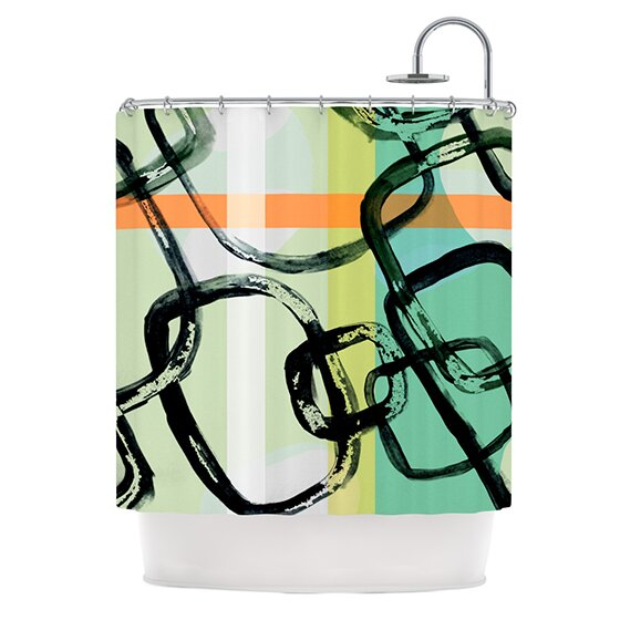 Sixties Stripe Shower Curtain by KESS InHouse
