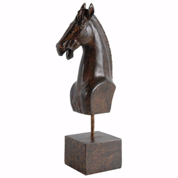 Paxton Intriguingly Horse Head Figurine on Stand by Union Rustic