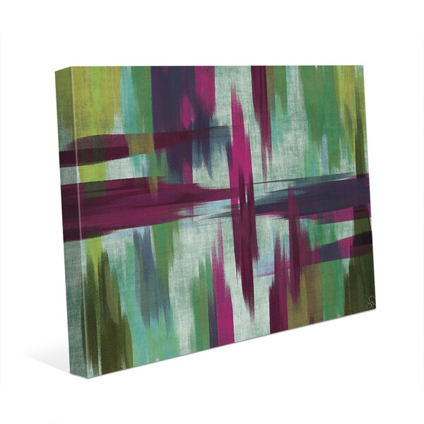 Magenta Paintscape Painting Print on Wrapped Canvas by Click Wall Art