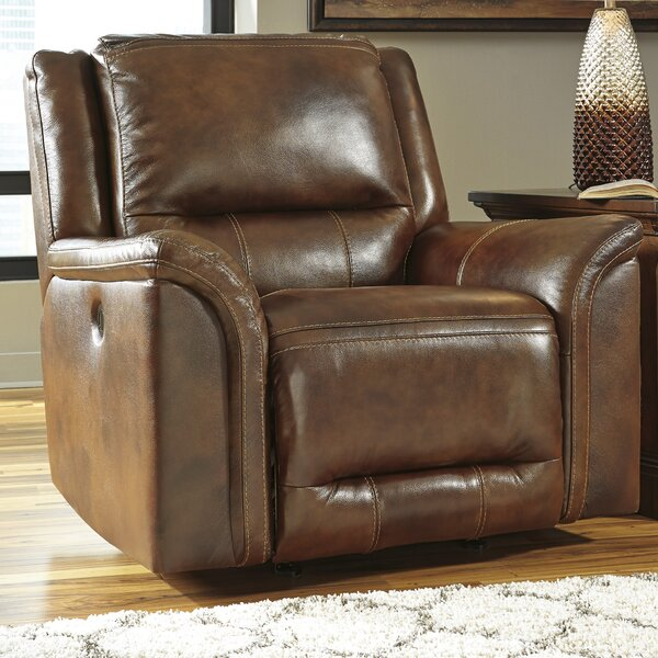 Nanette Leather Rocker Recliner by Darby Home Co