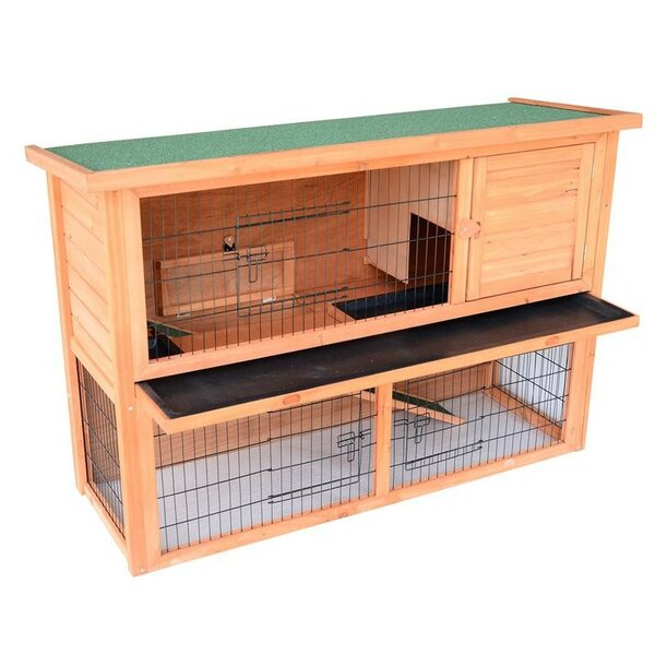 Lenora Rabbit Hutch/Bunny House with Lower Outdoor Run by Tucker Murphy Pet