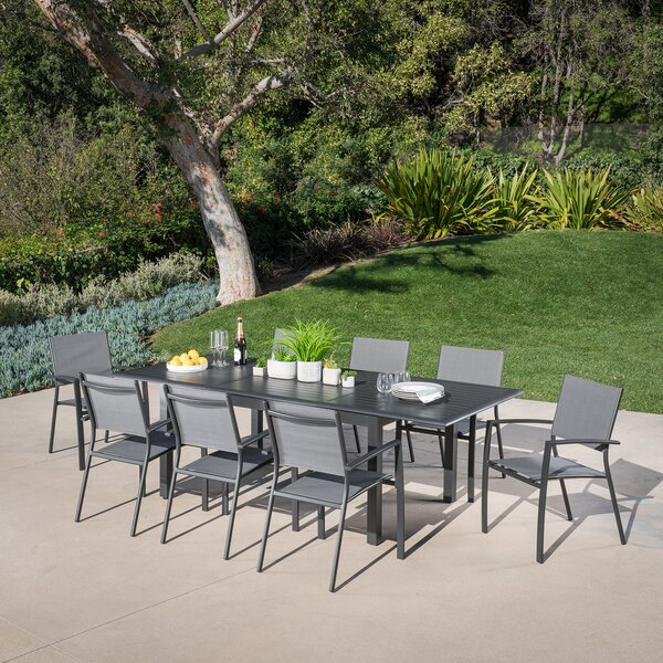Fiatt 9 Piece Dining Set by Latitude Run