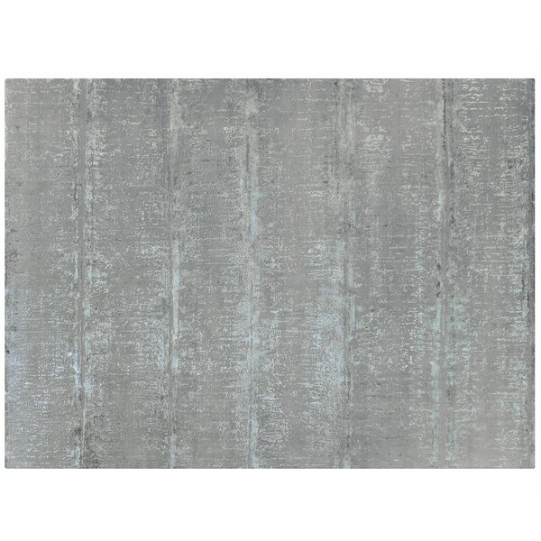 One-of-a-Kind Hand-Knotted Gray 10'3 x 13'11 Area Rug