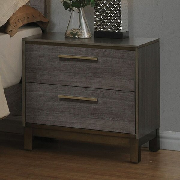 Margarett 2 Drawer Nightstand by Wrought Studio