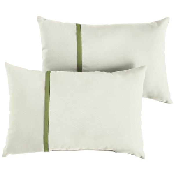 Fontes Indoor/Outdoor Sunbrella Lumbar Pillow (Set of 2) by Charlton Home