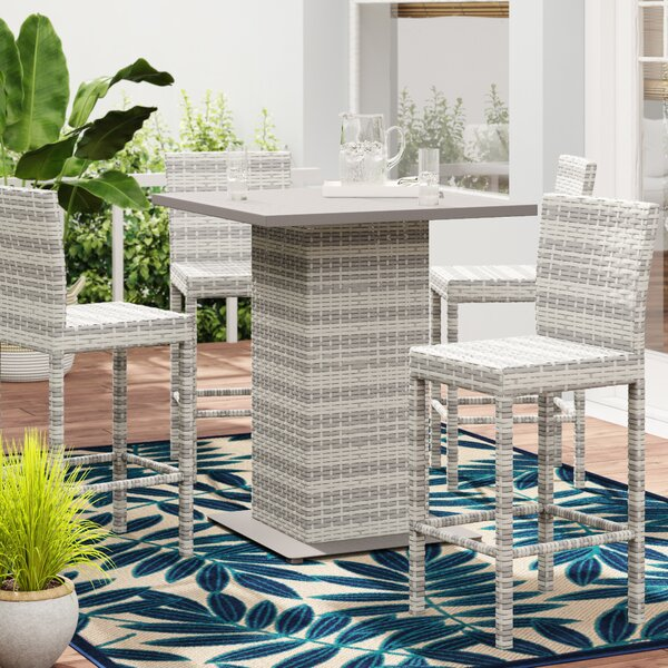Falmouth 5 Piece Bar Height Dining Set By Sol 72 Outdoor
