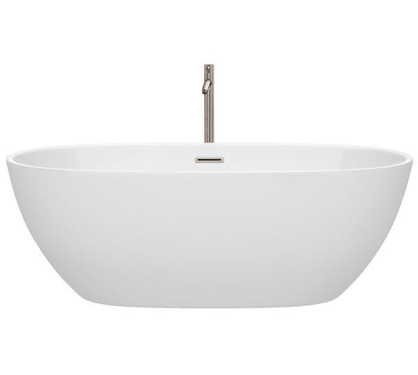Juno 67 x 32 Freestanding Soaking Bathtub by Wyndham Collection