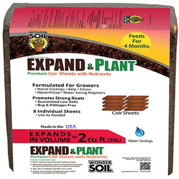 Expand and Plant Premium Coir Sheet by Hydrofarm