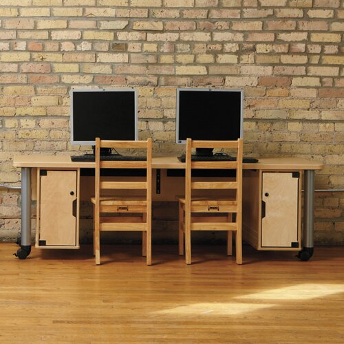 TrueModern Manufactured Wood 20 Student Computer Desk by Jonti-Craft