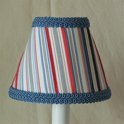 Sailboat Stripe 11 Fabric Empire Lamp Shade by Silly Bear Lighting