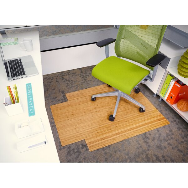 Executive Bamboo Office Chair Mat by Wildon Home ®
