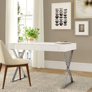 Balance Sector Campaign Stainless Steel Frame Writing Desk