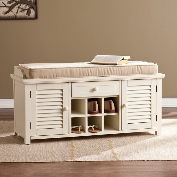 Wood Storage Bench by Rosecliff Heights