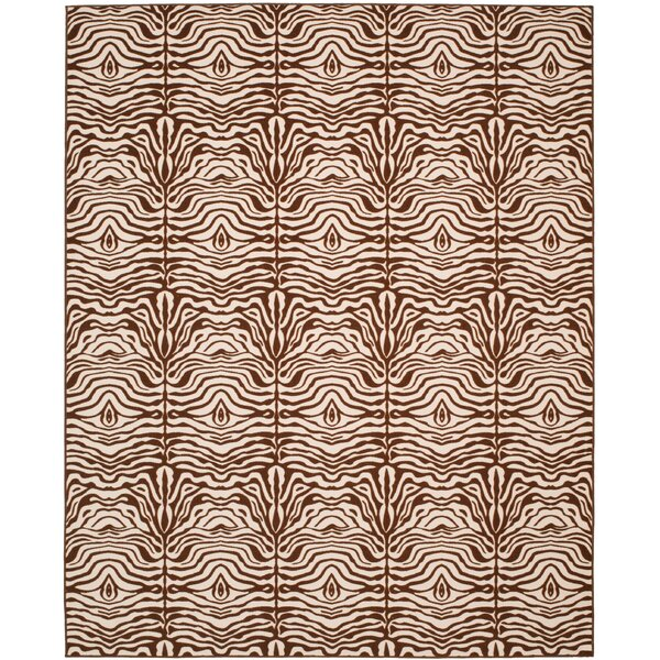 Metropolis Creme/Brown Rug by Safavieh
