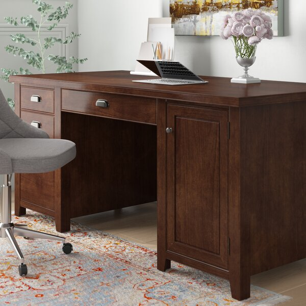 Michal Solid Wood Computer Desk