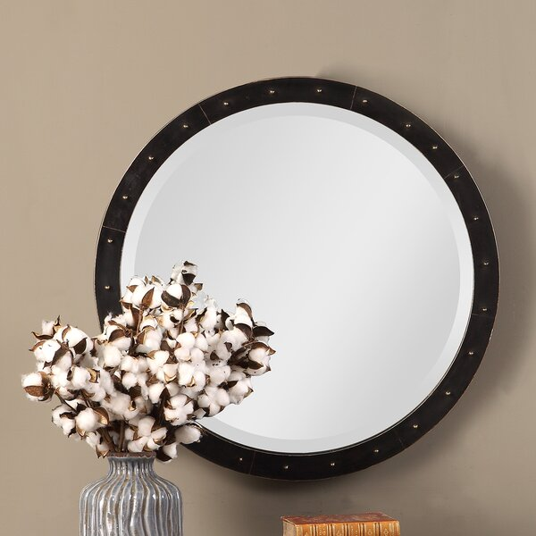 Burt Round Industrial Accent Mirror by Mercer41