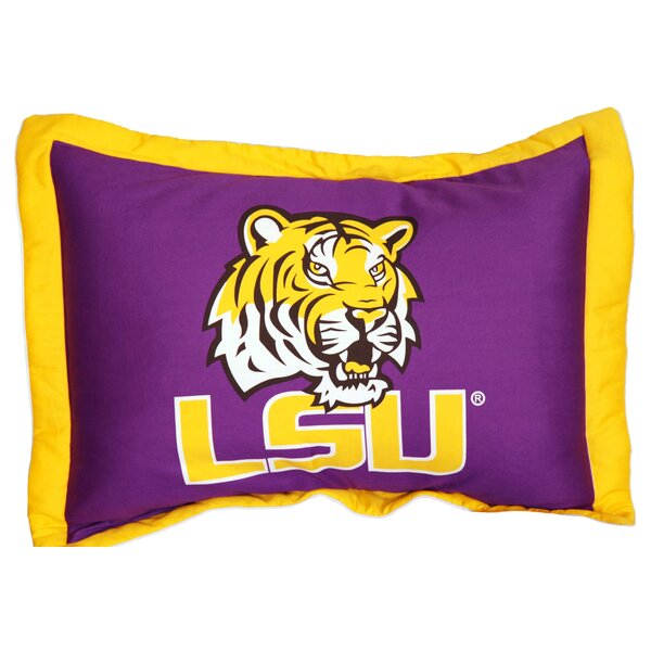 NCAA LSU Pillow Sham by College Covers