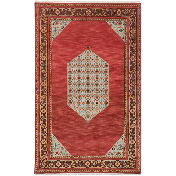 One-of-a-Kind Kadyn Hand-Knotted Red/Brown Area Rug by World Menagerie