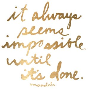 'Impossible Until It'S Done' by Jen Lee Painting Print on Wrapped Canvas by Marmont Hill