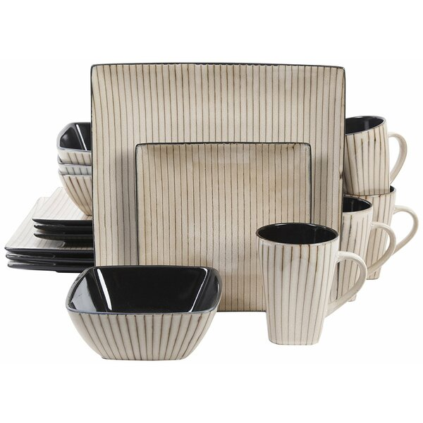 Sims Reactive Glaze 16 Piece Dinnerware Set, Service for 4 by Mint Pantry
