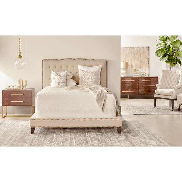 Lahaye Indigo Upholstered Configurable Bedroom Set by Langley Street