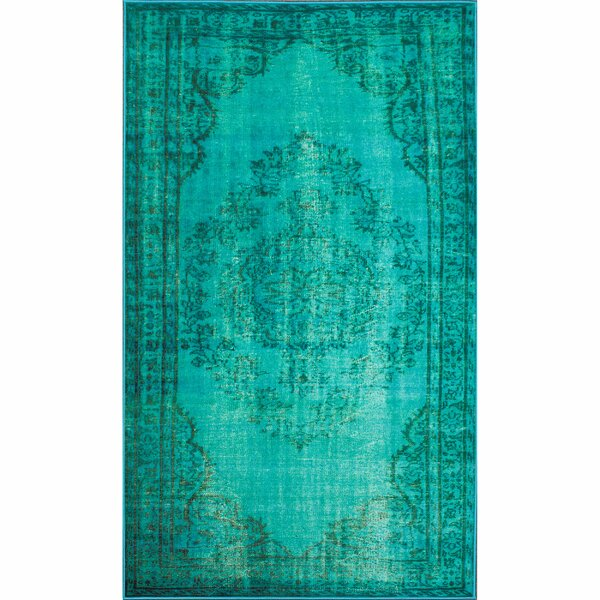 Parson Turquoise Area Rug by Mistana