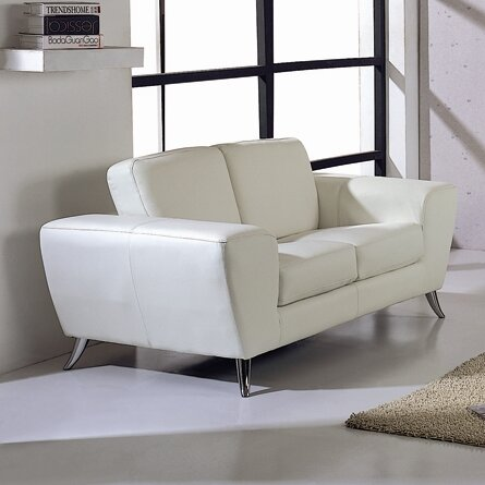 Price Decrease Alonso Leather Loveseat by Wade Logan by Wade Logan