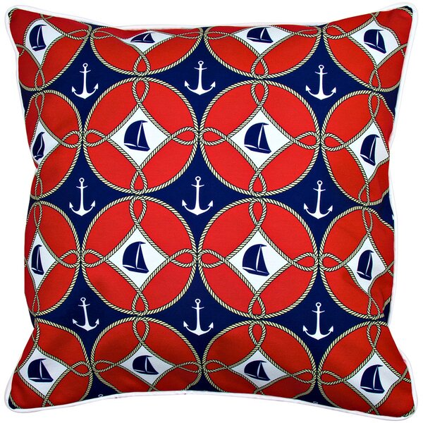 Nautical Sailboats and Anchors Throw Pillow by Island Girl Home
