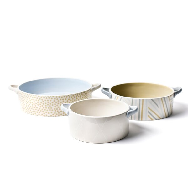 Nouveau Round 3 Piece Casserole Set by Coton Colors