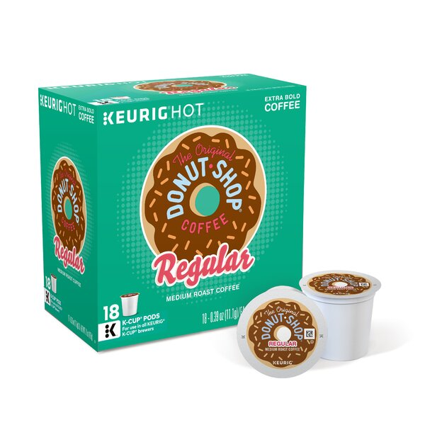 Donut Shop Regular Coffee K-Cup (Pack of 108) by Keurig