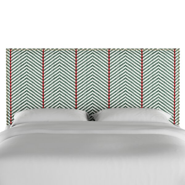 Boggs Modern Nail Button Border Upholstered Panel Headboard by Bungalow Rose
