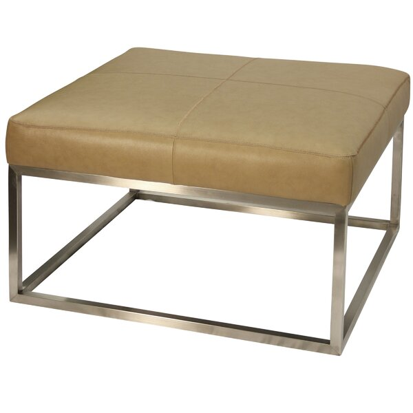 On Sale Amy Leather Cocktail Ottoman