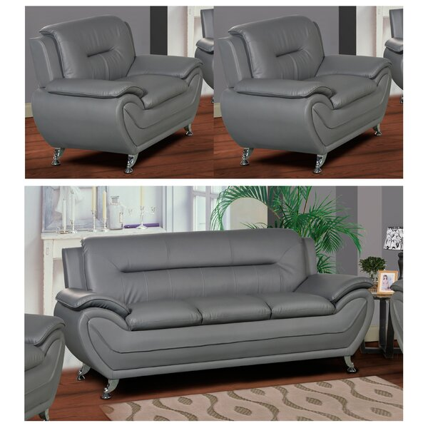 Polston 3 Piece Living Room Set by Latitude Run