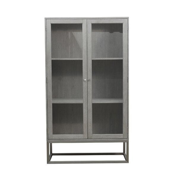Ormond Modern 2 Shelf Display Curio Cabinet by Wrought Studio