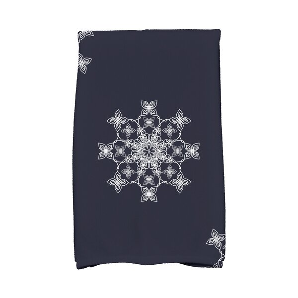 Holiday Wishes Falling Snow Hand Towel by The Holiday Aisle
