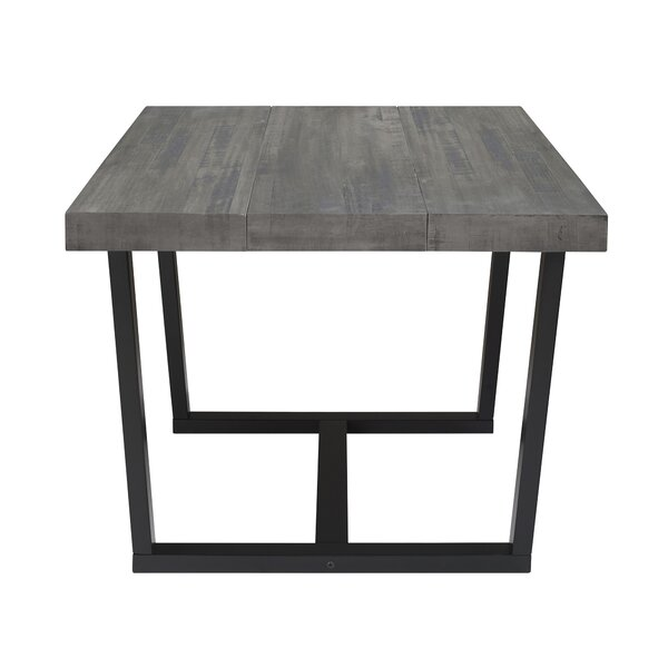 Marine Distressed Solid Wood Dining Table by Union Rustic